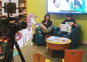 childrens hospital author visit and reading of popular unicon book for kids