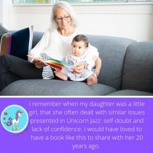 Unicorn Jazz book recommended by grandmother
