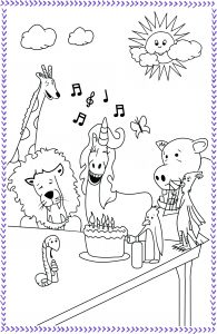 free birthday coloring book pages
