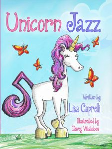 Unicorn jazz childrens unicorn book series lisa caprelli author visits huntington beach california