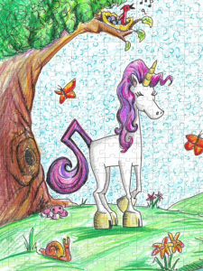 Unicorn Jazz Puzzle for Children ages 6-8