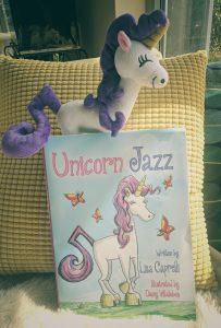 kids unicorn books and unicorn plush toy