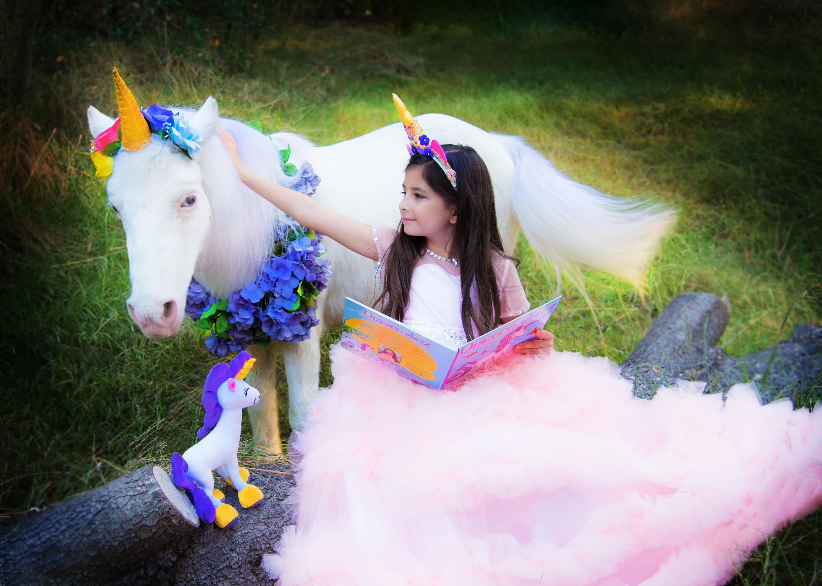 Unicorn Plush Toy and Book Birthday Gift for girls