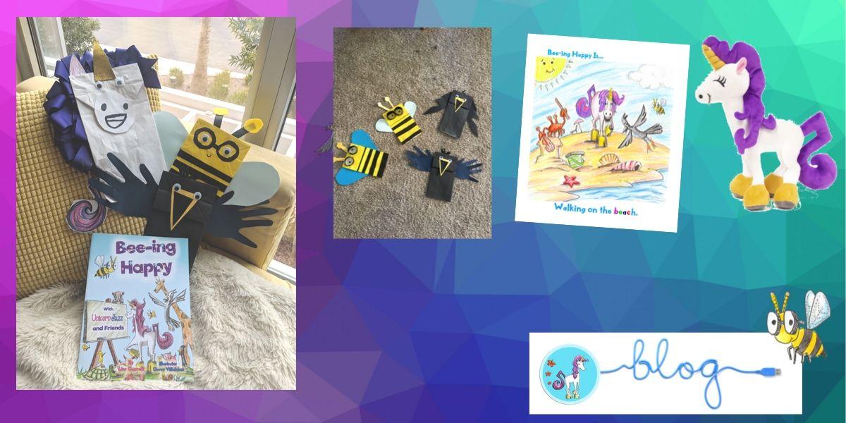 free kids unicorn puppets kits