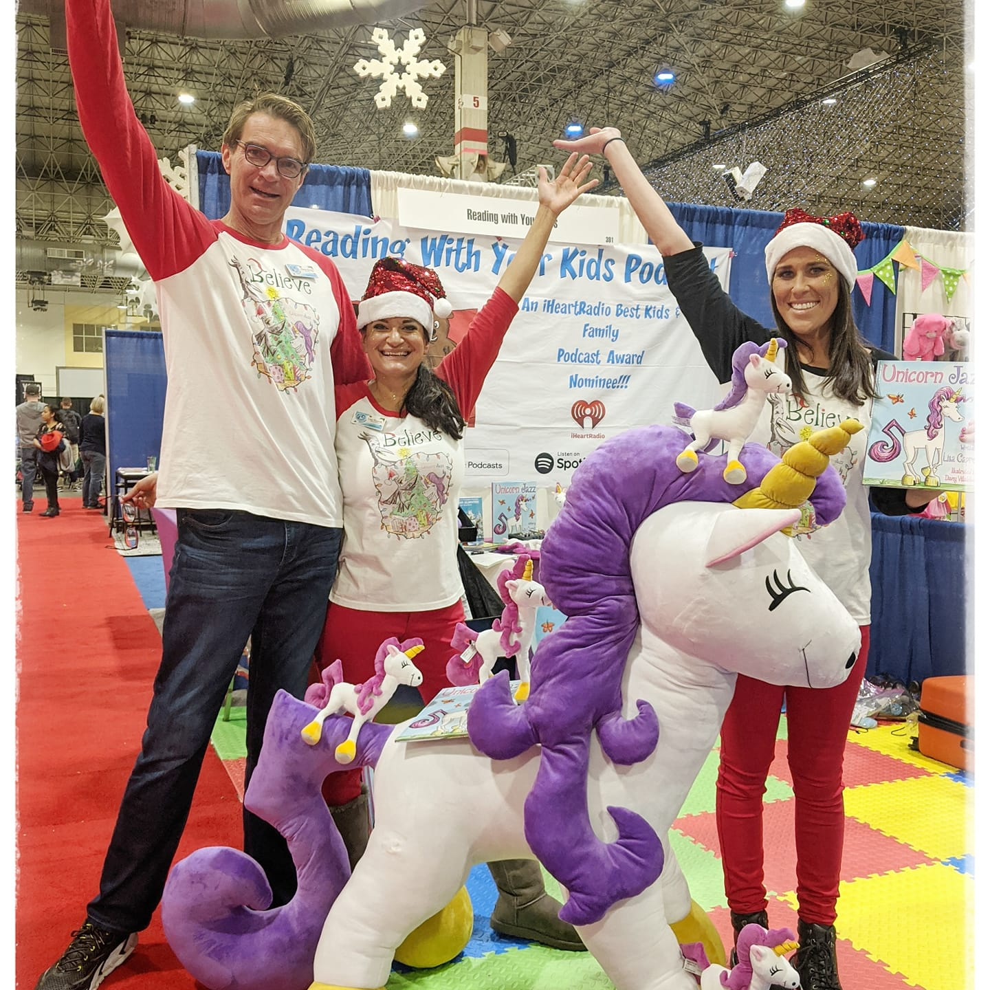 Giant unicorn with purple tail musical note