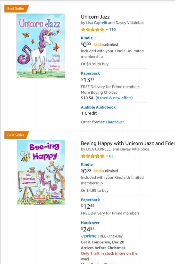 unicorn best-seller children's book