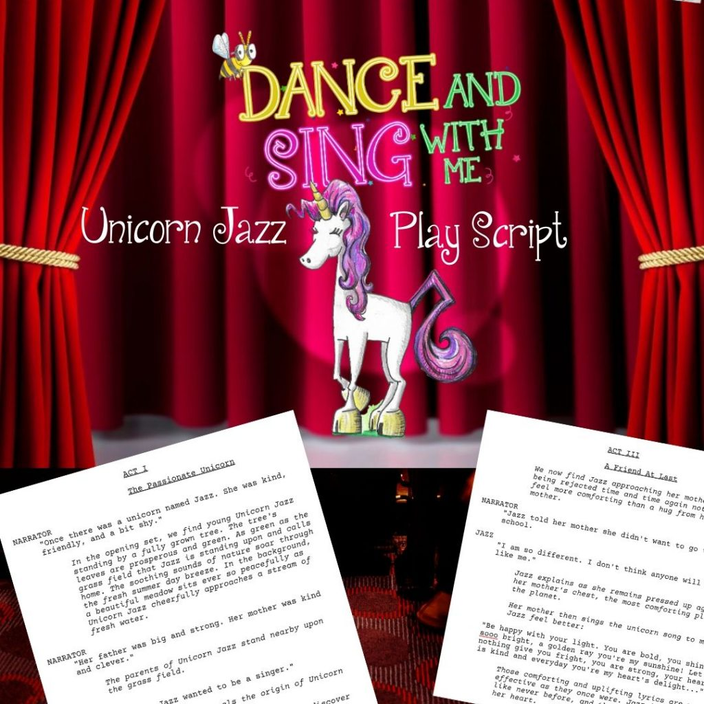 childrens book play script play script unicorn jazz