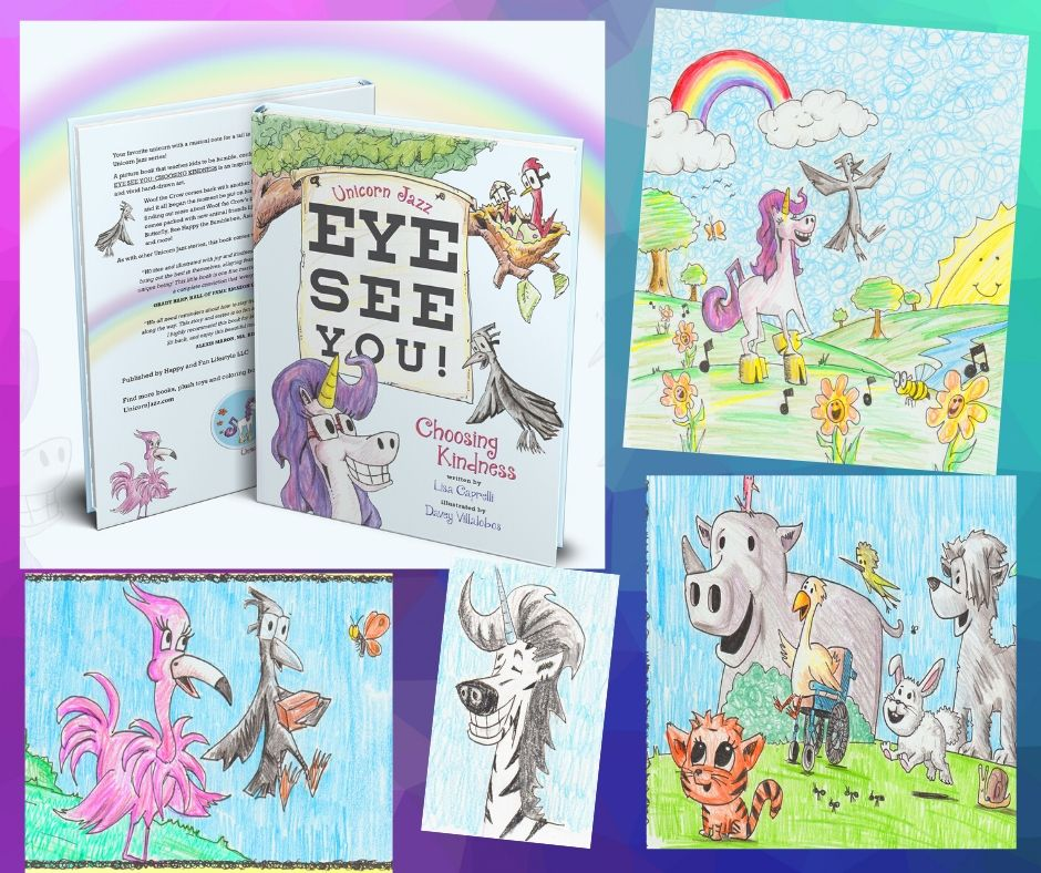 childrens unicorn book series Eye See You Unicorn Jazz