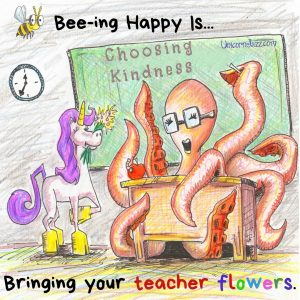 bringing teacher flowers quote