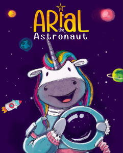 Best Children's Unicorn Books List - Arial the Astronaut (front cover)