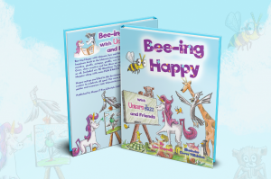 Best Unicorn Books for Kids List - Being Happy (Front and back cover)
