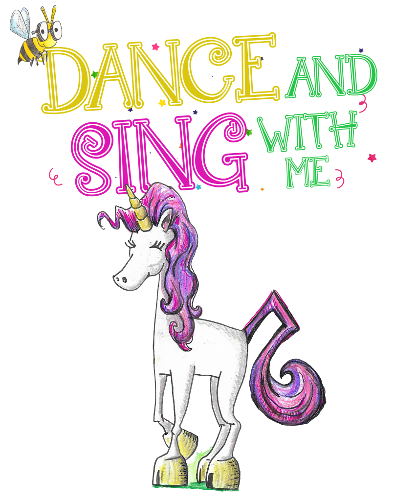 childrens book with song unicorn jazz