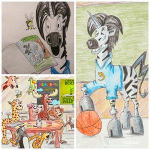 Unicorn Jazz children's book series unicorn art zebracorn