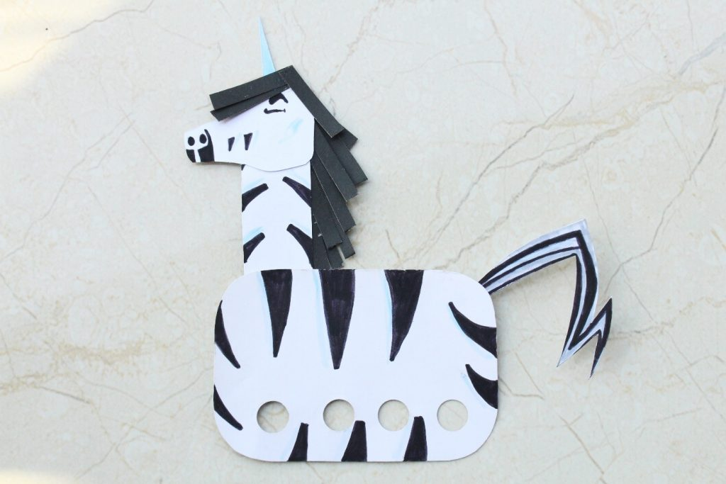 Hand Puppet for Boys and girls Trezekke Zebracorn Unicorn Childrens book series Unicorn Jazz
