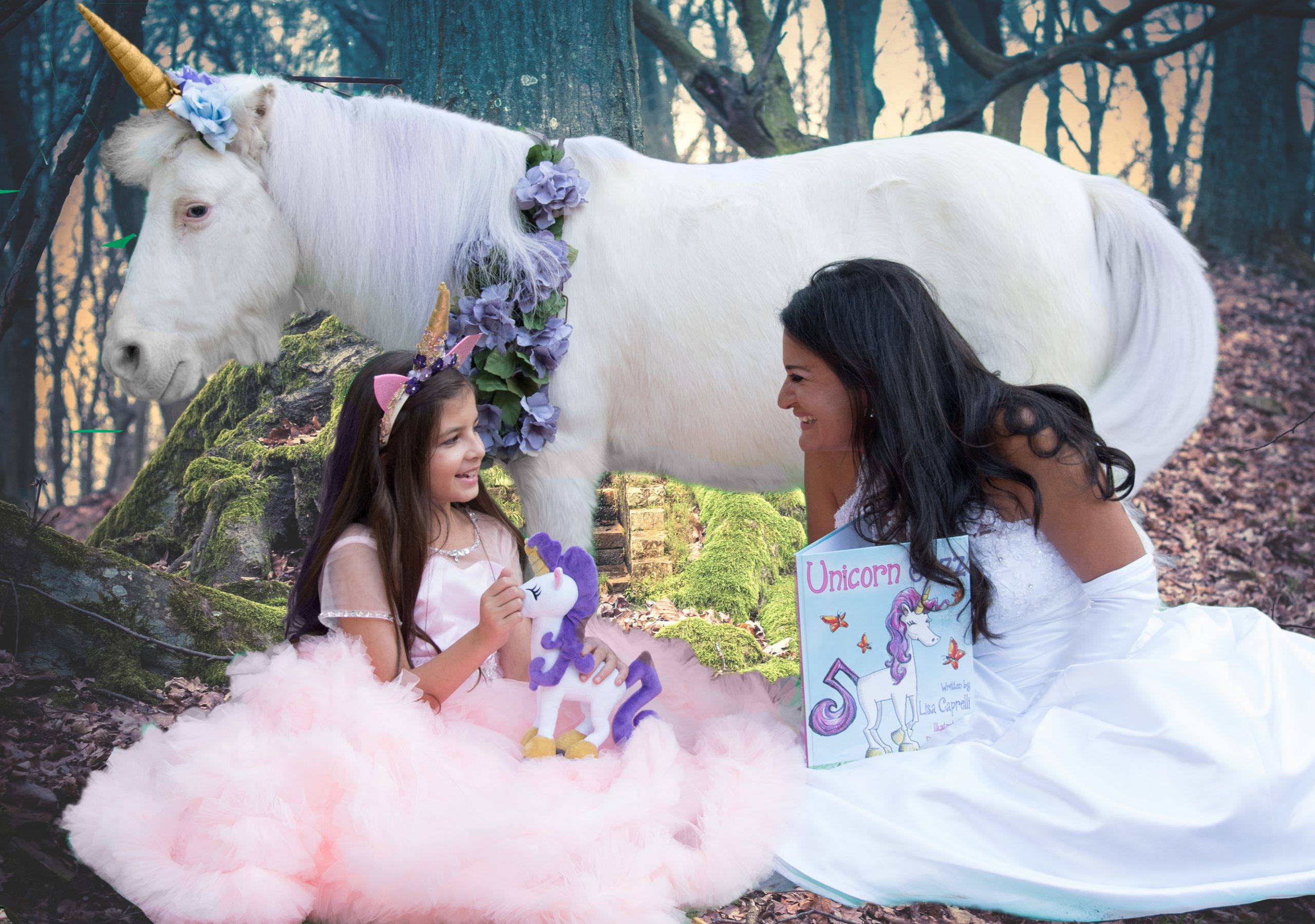 unicorn books for kids series with unicorn jazz plush