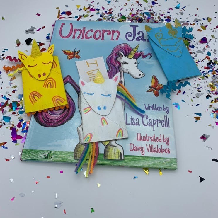 DIY unicorn bookmarks for kids