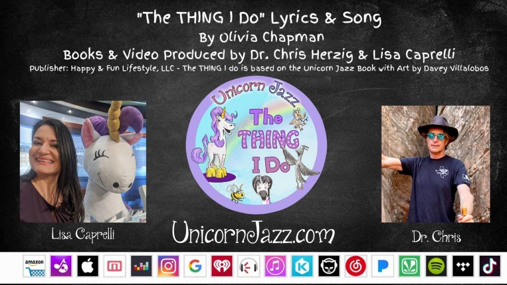 18 people singing the thing i do unicorn jazz kids book and song