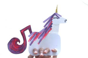 free unicorn finger puppet DIY craft