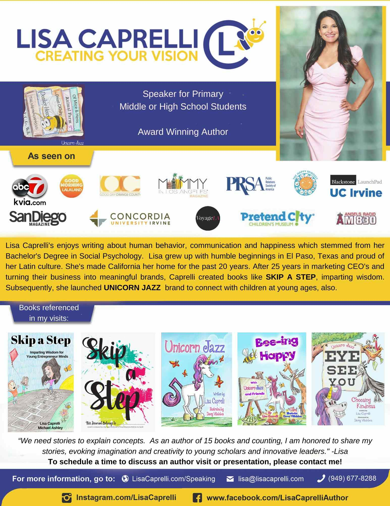 book childrens author to speak