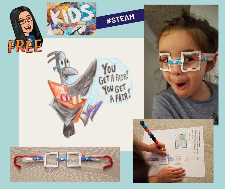 DIY eyeglass craft for kids
