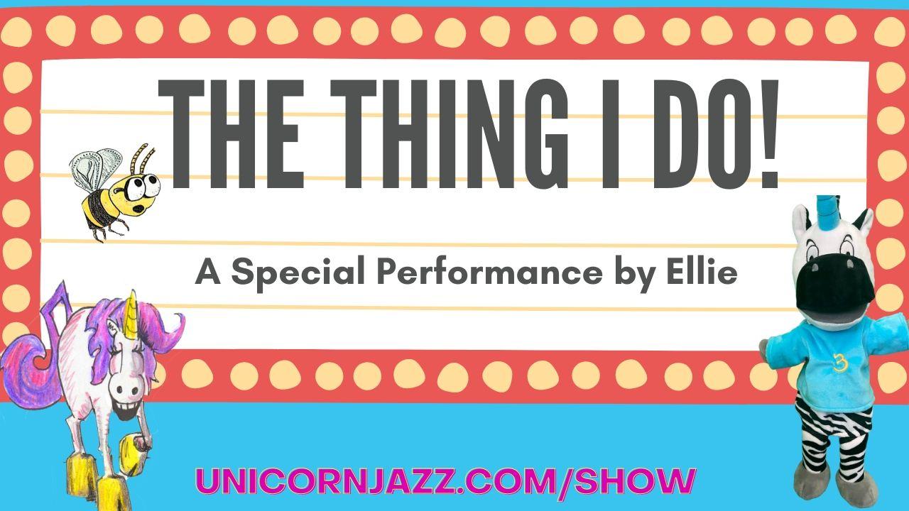 Ellie plays on Unicorn Jazz the thing i do show with lisa caprellli