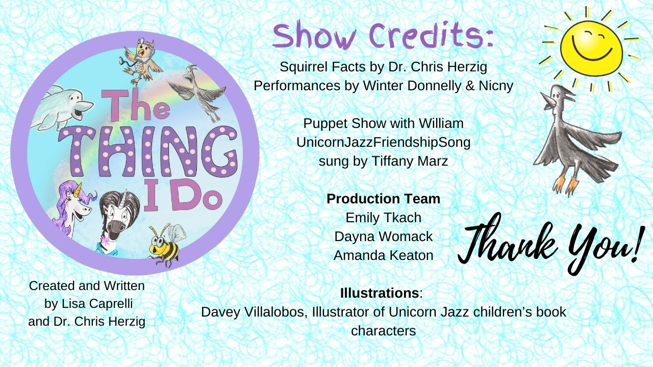 Kids Music Video The Thing I Do Unicorn Show Credits