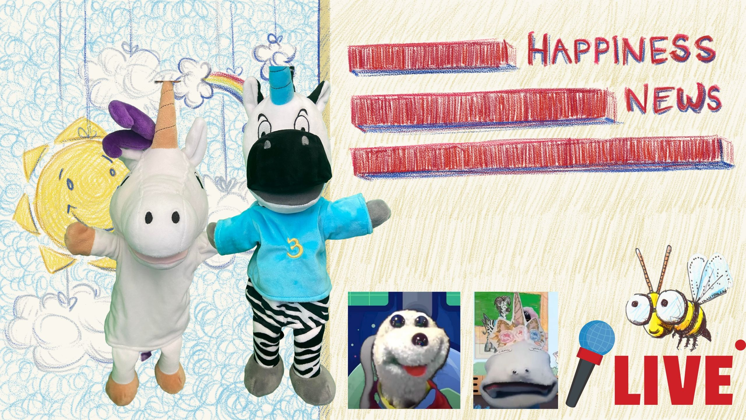 Happiness News puppets unicorn jazz the thing i do unicorn jack