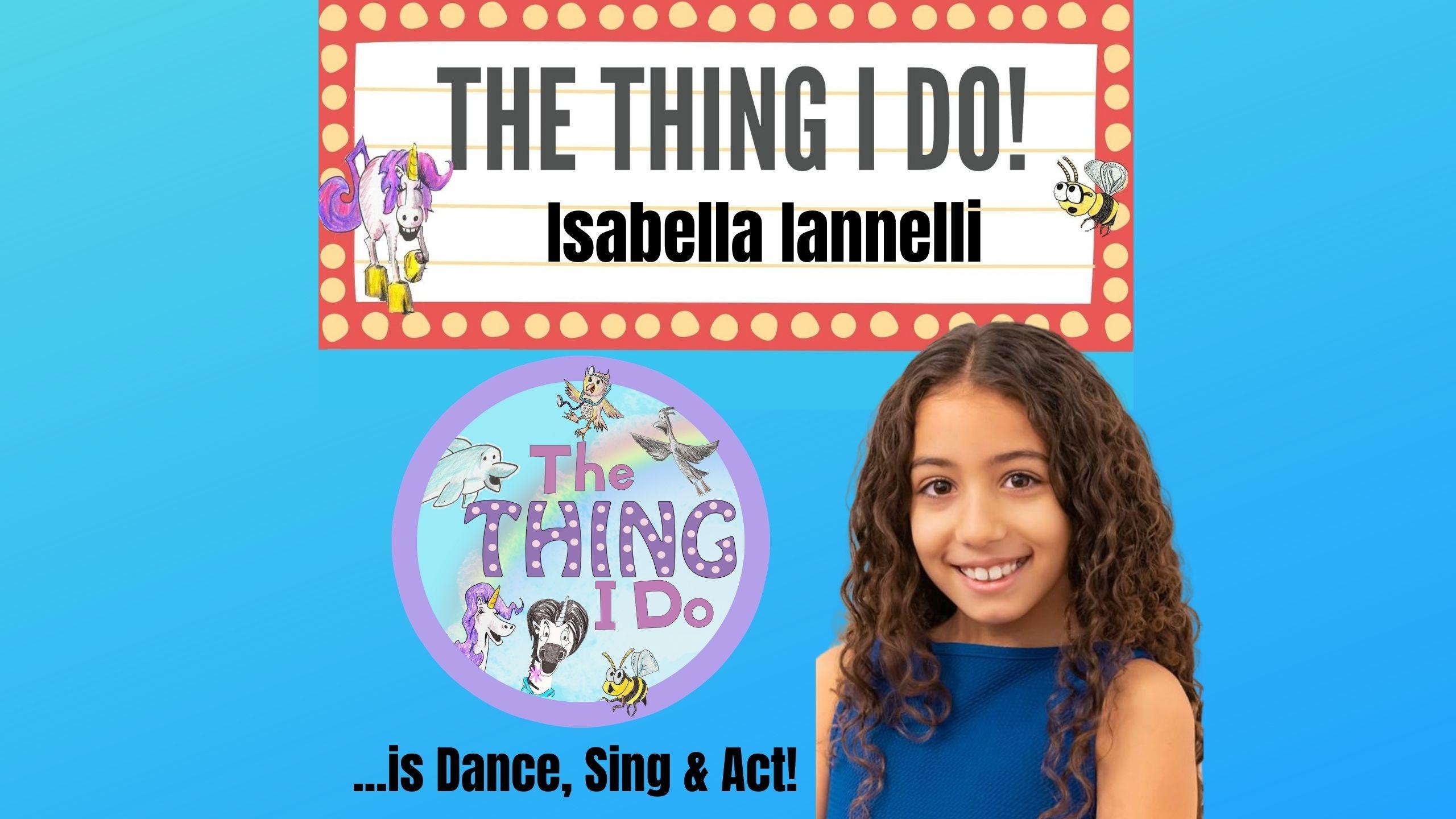 Isabella Iannelli dancer and singer kids