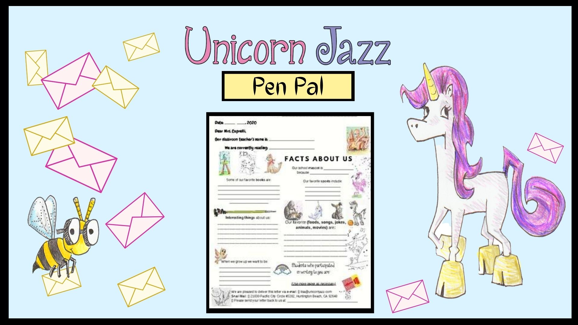 Happiness News Puppet Show Pen Pal Activity for kids