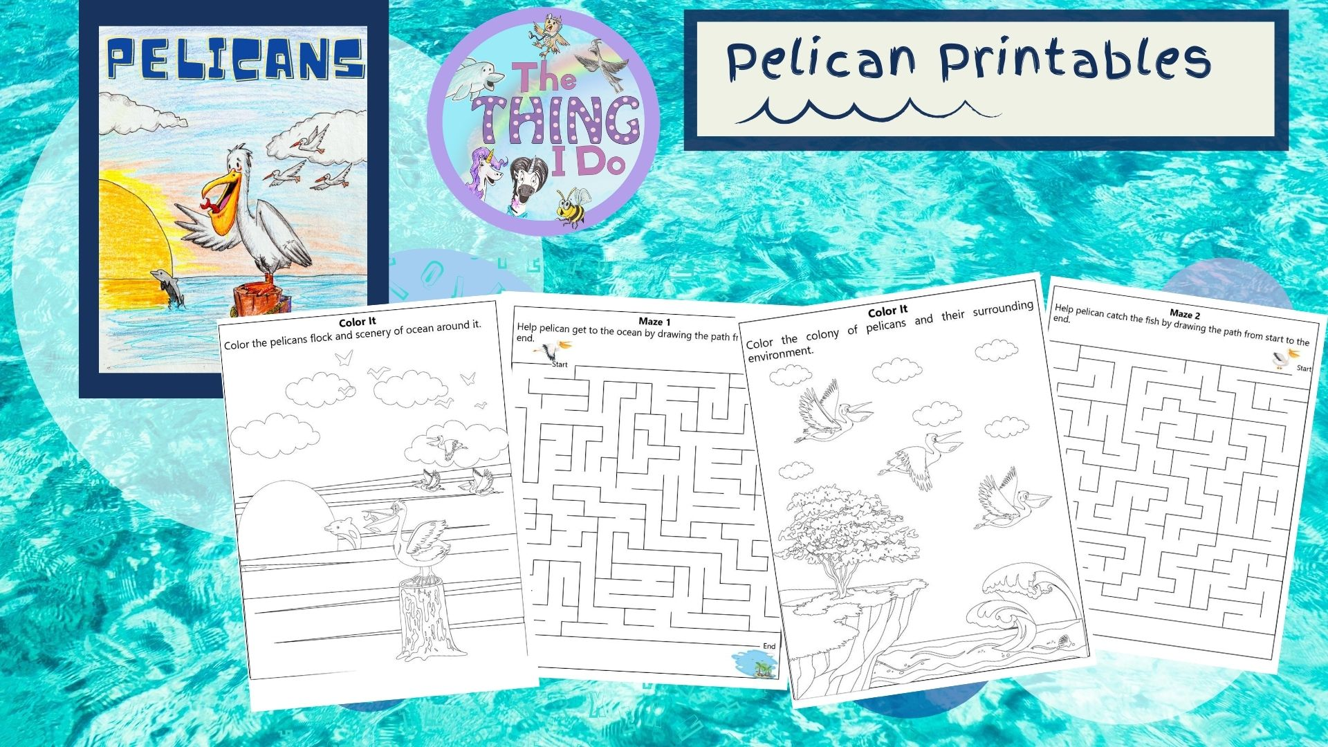 pelican free coloring page printables for kids