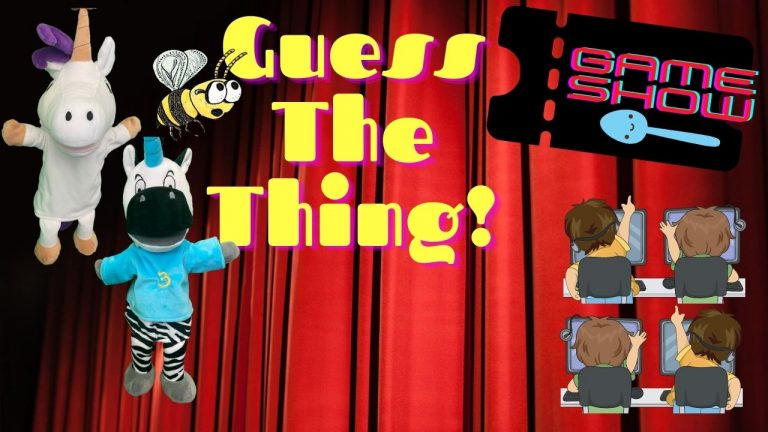 Fun Things for Kids to Do: Guess The Thing I Do Game Show with Host, Puppet Trezekke