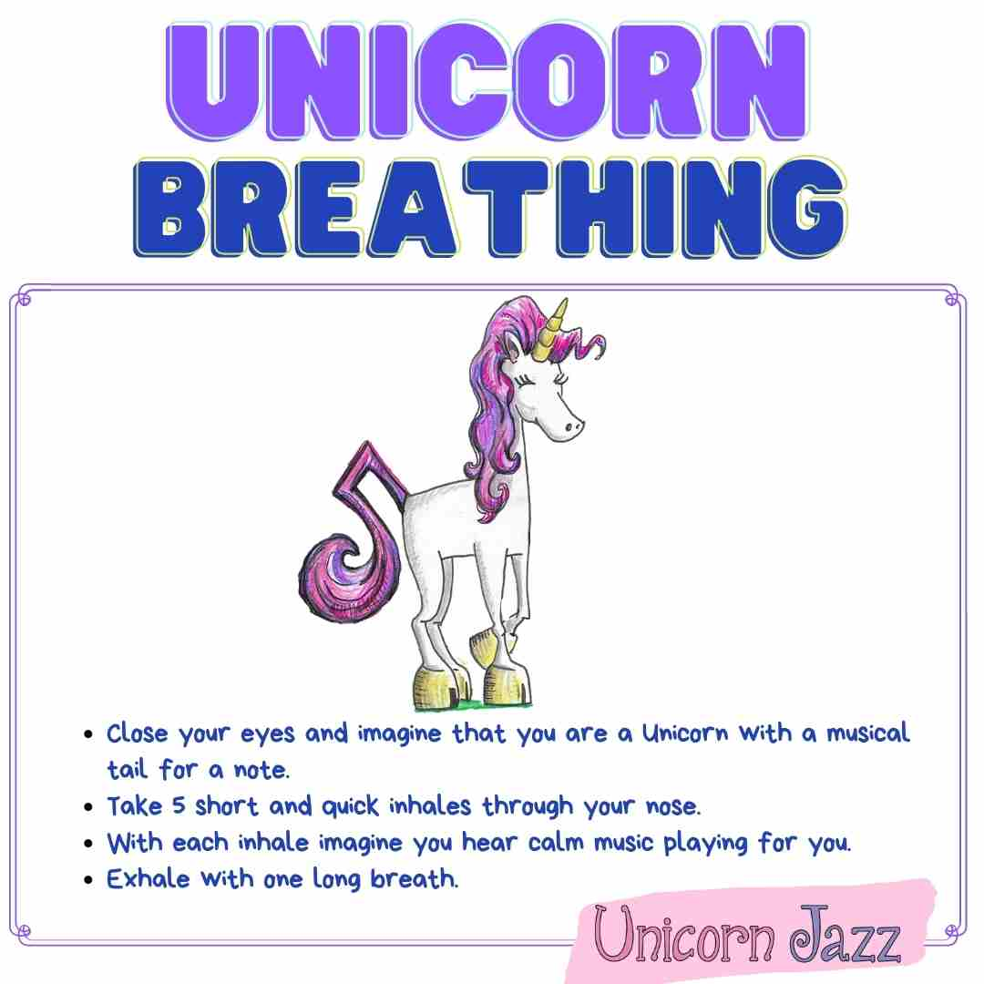 unicorn breathing exercise for kids ages 6 to 8