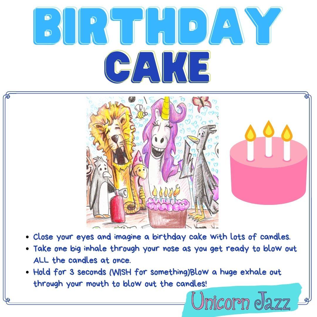 deep breathing exercises for kids birthday cake