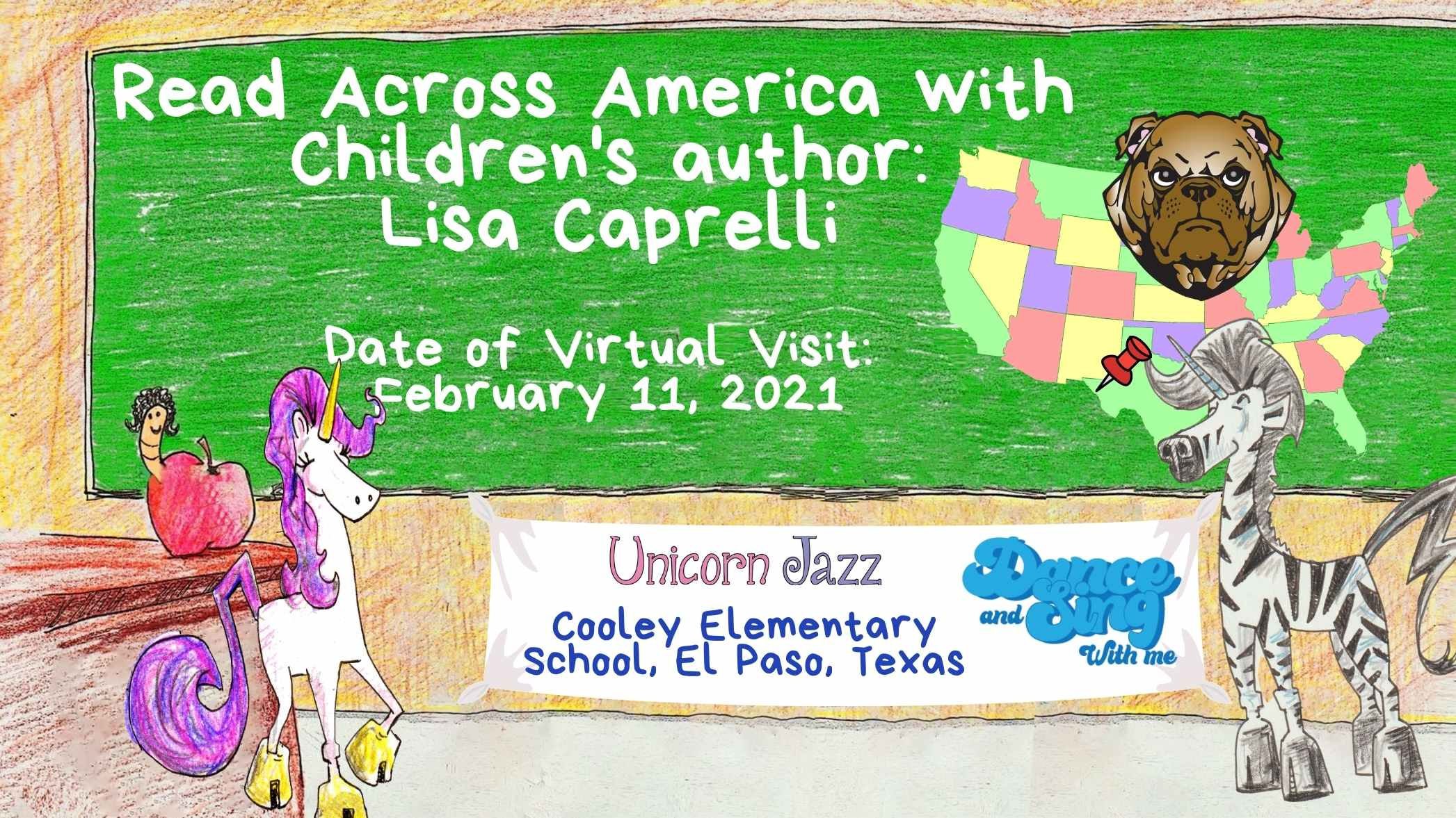 Cooley elementary school visit by author