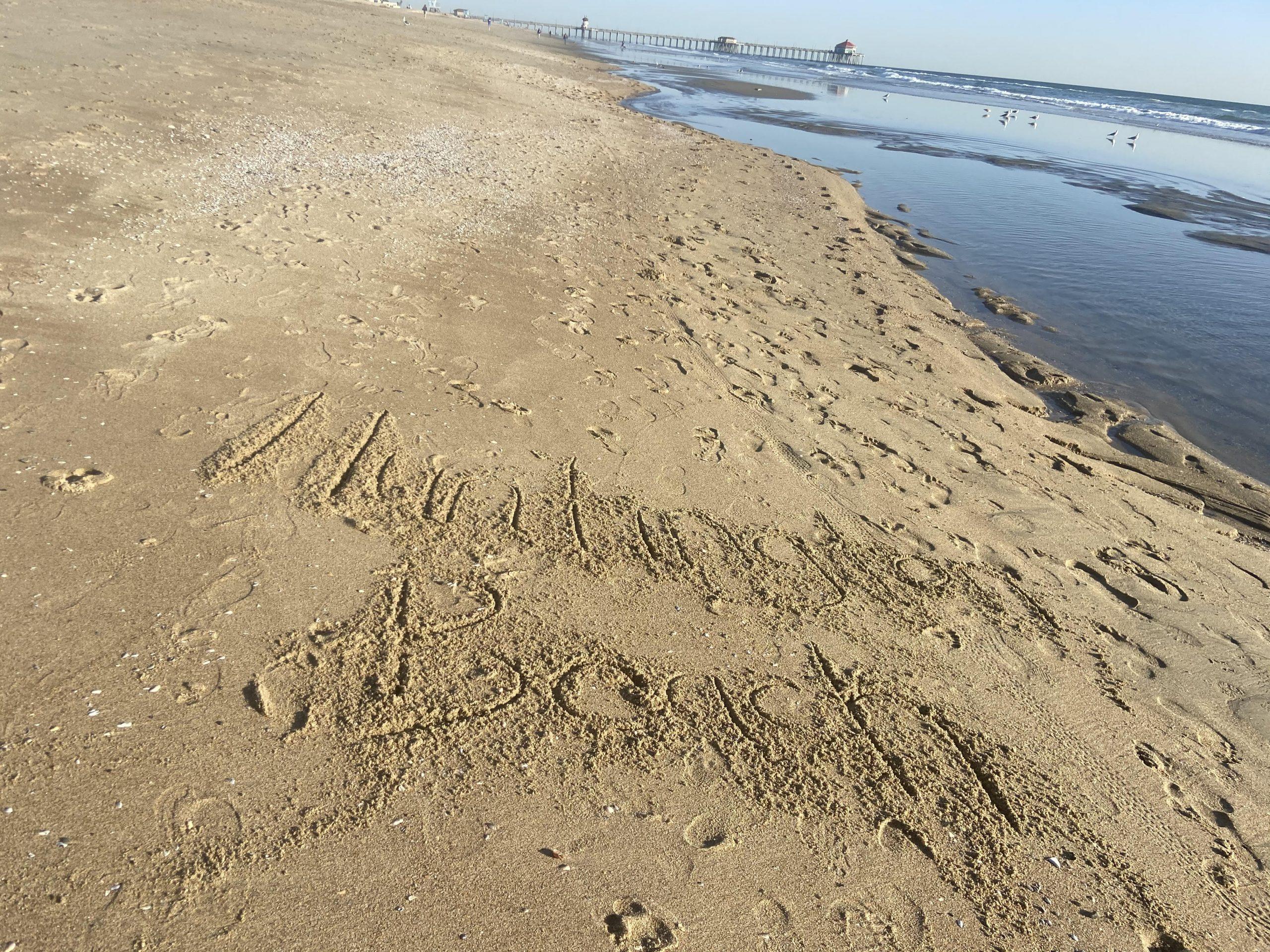 Huntington Beach sand california