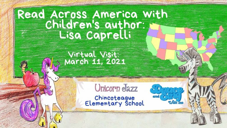 Author Visit in Virginia Chincoteague Elementary School
