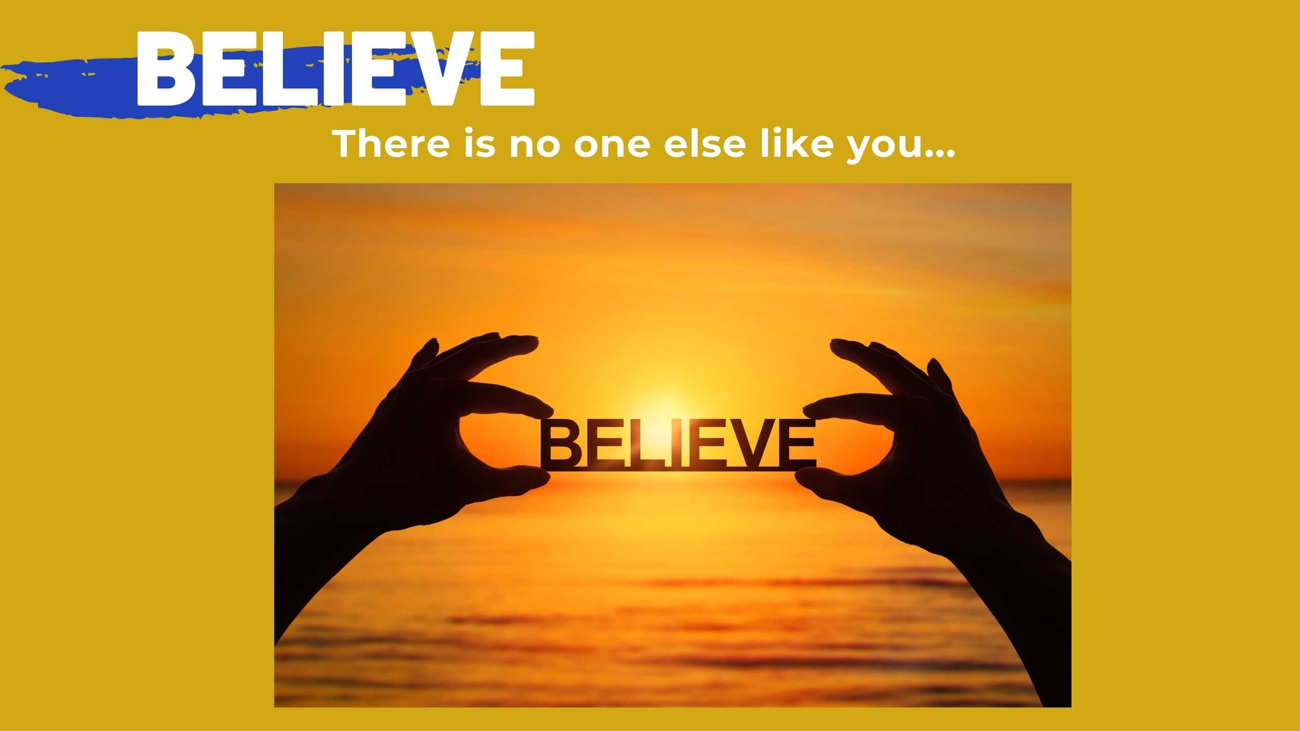 Believing in others
