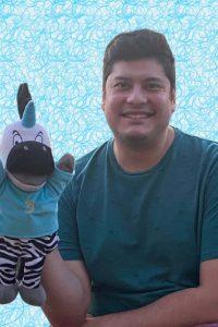 Matthew Vasquez voice of Trezekke unicorn puppet and nurse