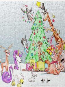 unicorn christmas puzzle